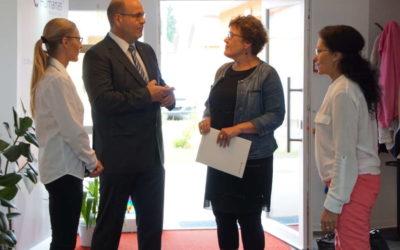 Sozialministerin, Frau Petra Grimm-Benne besichtigt Humanas Wohnpark Colbitz