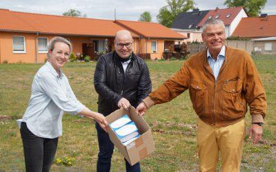 Humanas erhält Maskenspende von CDU Sachsen-Anhalt